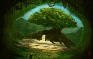 Forest Throne by St-Pete