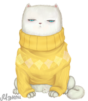 Sweater Cat by nero-nero