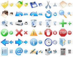 Perfect Toolbar Icons by shockvideo