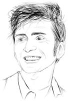 David Tennant Black and White by IBelongToTheDoctor