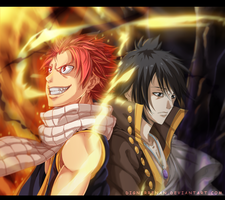Fairy tail - Natsu and Zeref by DesignerRenan