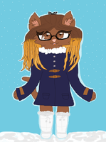Gift\Request:Fluffy cutie in winter outfit! by cottoncloudyfilly
