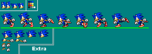 Sonic Running Sprite Sheet by BlazefireLP
