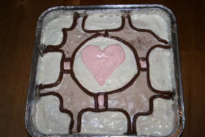 -Weighted Companion Cube Cake- by Corky-Lunn