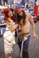 Ariel and Captain Jack Sparrow by miss-a-r-t