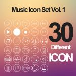 Music Icon set Vol. 1 by calwincalwin