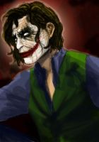 The Joker Heath Ledger by christellepecout