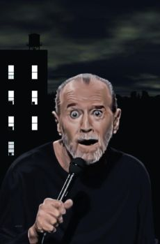 George Carlin Digital painting by Soussherpa