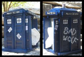 Tissuebox Tardis by Doctor-Who-Club