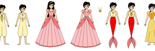 Melody in all dresses by PPsantos1989
