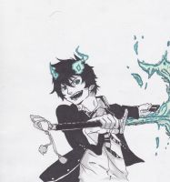 Rin Okumura by HappiShni