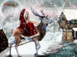 Going to Santa Claus by annemaria48