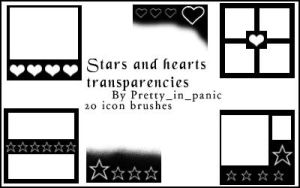 Star and heart transparencies by Bleeding-carousel