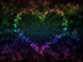 .: Love Lights Wallpaper :. by Waiting-Wish