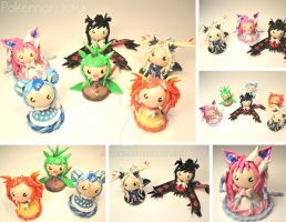 Pokemon X Y Chibis by xRcks