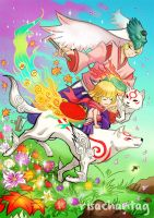 Okami + Okamiden: Family by Risachantag
