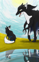 Youngster and elder by DrawingShadow