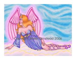 Lounging Angel by PoisonAlice