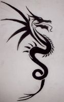 Tribal Dragon tattoo by xx-angel-of-deth-xx