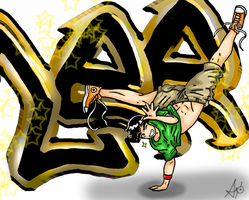 Break Dance Lee by AceroTiburon