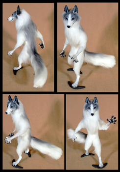 Marble Fox OOAK Doll: For sale by Eddie-Ka