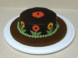 Autumn Sunflower Cake by omgitsalisa