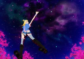 Lucy Heartfilia - Reach for the stars by hanah-chan