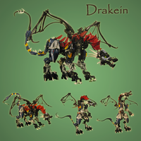 Lego: Drakein by retinence