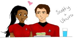 Scotty+Uhura by MidnightSunshine0723