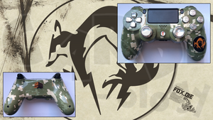 Custom PS4 Metal Gear Solid Controller by CARDI-ology