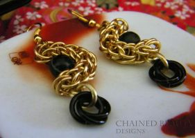 Full-Persian Crescent Earrings by ChainedBeauty