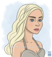 Game of Thrones: Daenerys Targaryen by EadgeArt