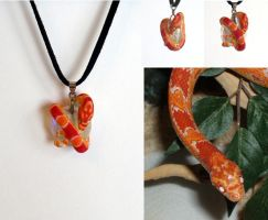 Corn Snake Necklace by IllusionTree