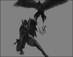 Quinn And Valor - LoL wip by catdoak
