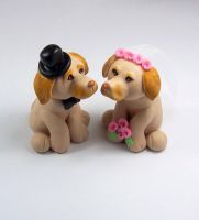 Labrador Wedding Cake Topper by HeartshapedCreations