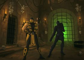 Scorpion and Noob Saibot by Q-arts