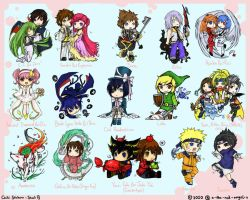 15 Chibi Stickers - Sheet B by Karaiel