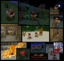Minecraft Zombie Flareon Mob v-1.0.2 by FuzzyAcornIndustries