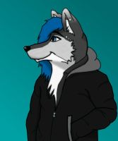 Gift art - Vito the Wusky by sonofawerewolf