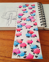 Doodle: Sheep Splotches by OdieFarber