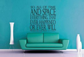 Dr Who - All of Time and Space Wall Decal by GeekeryMade