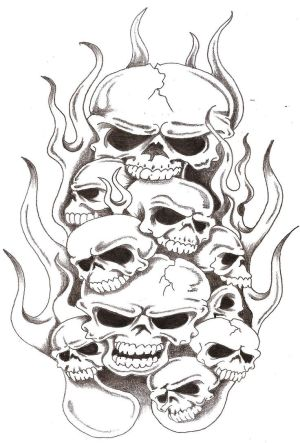 Tattoos Skulls on Art Of Tattoo  Style Skull Tattoos Especially Flaming Skull Tattoo