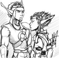 Done Being Heroes :: Jak 3 doodle by LadyFitz