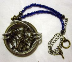 Locked away... necklace by Gothic-Enchantress