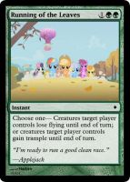Running of the Leaves by ManaSparks