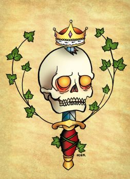 Royal Skull with Ivy Dagger by Psychoead
