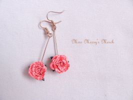 Rose earrings for Sis by kolkrisz