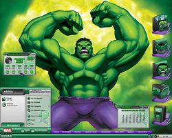 Incredible Hulk Desktop I by a666a