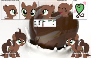 Cocoa Curl's Official Debut and Ref Sheet by Dreadful-Etiquette