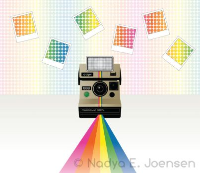 Polaroid rainbow by nadda1984
